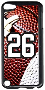 Football Sports Fan Player Number 26 Black Plastic Decorative iPod iTouch 5th Generation Case