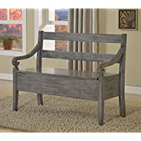 Crown Mark Kennedy Storage Bench Grey