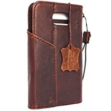 Genuine Full Leather Case for Samsung Galaxy Note 5 Book Wallet Handmade Retro Style Luxury Daviscase Lite