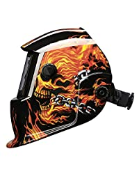 DEKOPRO   Casco de soldadura solar con parasol oscurecido automático con rango de sombra ajustable 4 9 13 para máscara de soldadura Mig Tig Arc