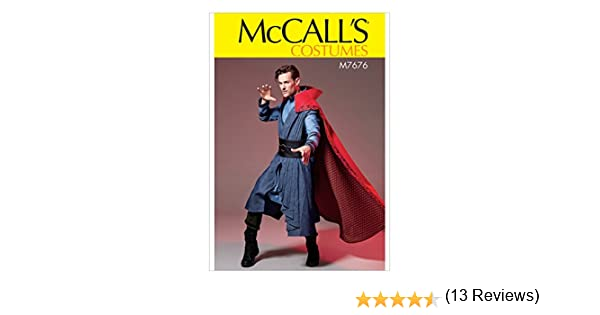Tunic McCalls Patterns M7676 Mens Costume With Cloak Vest and Belt SEWING PATTERN 7676 Size S-XXL