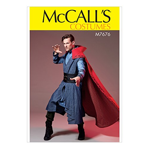 McCall's Patterns M7676MEN Superhero Cloak, Vest, Tunic, and