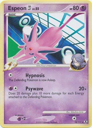 Pokemon Platinum Rising Rivals Single Card Espeon 4 #18 Rare [Toy]