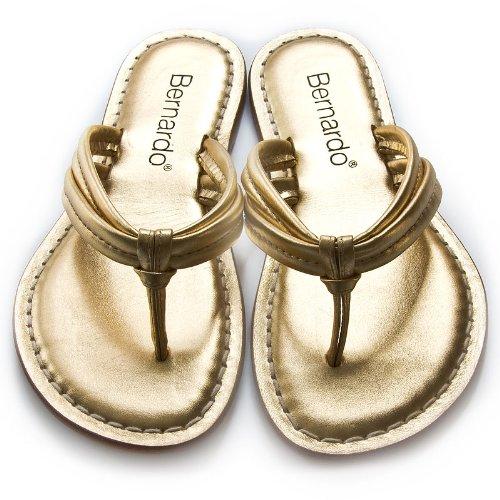 Bernardo Women's Miami Thong Sandal,Gold,5 M US