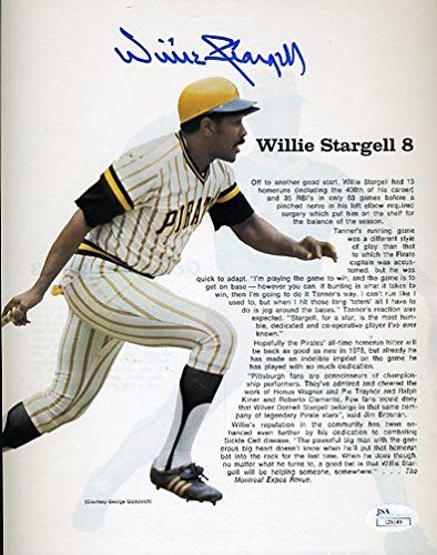 (WILLIE STARGELL SIGNED JSA CERTED 8X10 PHOTO AUTOGRAPH)