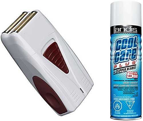 Titanium Series Foil (Andis LIGHTWEIGHT Cordless Mens Shaver with All NEW Hypoallergenic Gold Foil Technology, BONUS FREE Andis Cool Care Plus Clipper Blade Cleaner Included)