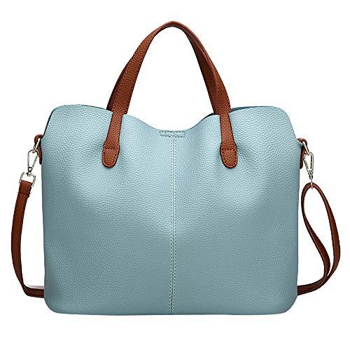 (Londony Vintage Handbags in Retro Purses and Handbags for Women Satchel Shoulder Tote Bags Sky Blue)