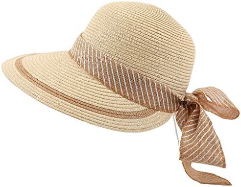Oillian Women Large Wide Brim Visor Hats UV Protection Summer Packable Beach Cap UPF 50 +