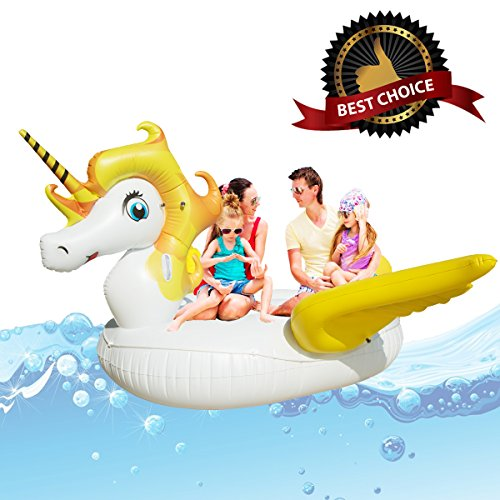 Giant Unicorn Swimming Pool Float Inflatable Water Pool L...