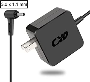 CYD 65W Power Adapter Replacement for Laptop Charger Acer Chromebook 11 13 14 15 R11 CB3-131-C3SZ C720-2103 CB5-571-C1DZ CB3-111-C670 CB5-132T-C1LK C730E-C4BA Aspire V3-371 V3-372T Power Supply Cord
