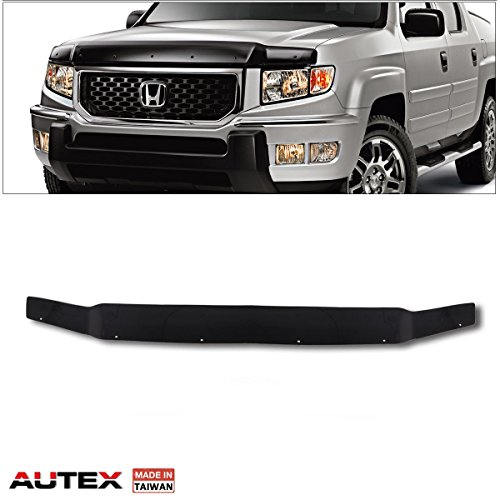 AUTEX Hood Protector Compatible with Honda Ridgeline 2006 2007 2008 2009 2010 2011 2012 2013 2014 Bug Deflector Hood Shields