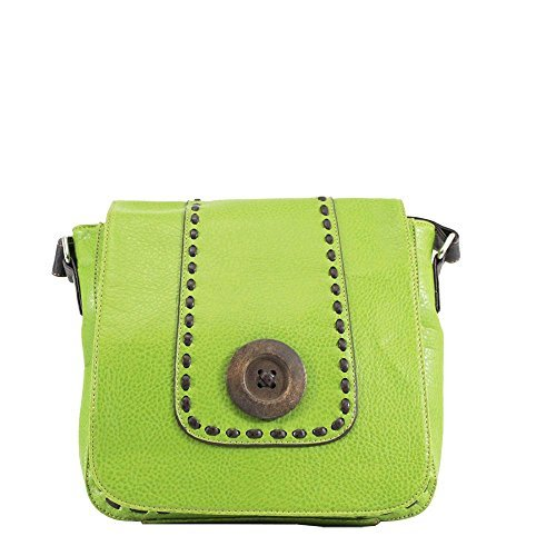 Flap Bag Green Over Women for Diva Button Haute Green IqxUpTA6