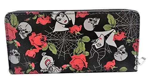 Evil Female Villains Zip Around Pu Leather Women's Hand Purse Clutch Wallet ()