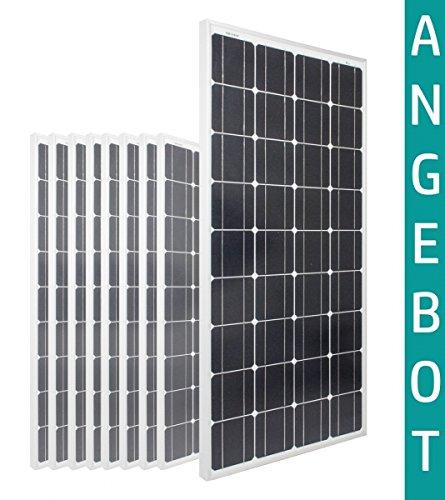 100W Watt x10 - Solarmodule 12V Volt 24V TOP BUNDLE Monokristallin - Solarpanel - PV-Modul - Solar Photovoltaik - Camping - solarXXL