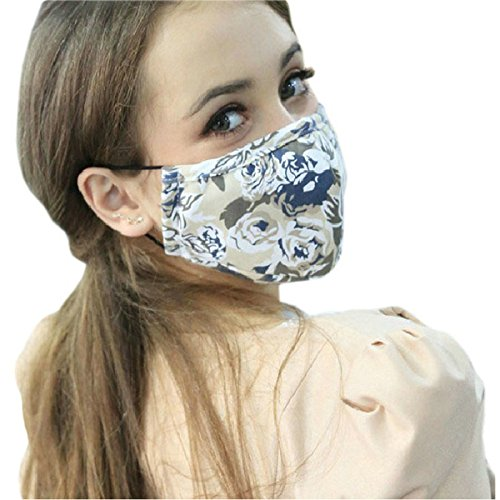 Ayygift-Pm25-Flower-Gauze-Mask-Adult-Face-Mask-Anti-fog-Haze-Dustproof-Mask-Beige