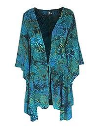 Lagenlook Plus Size | Women's Kimono Sleeve Cardigan | Handmade One Size (1x-3x)