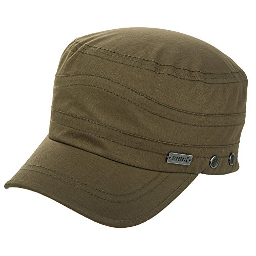 Fancet Womens Cotton Army Cap Military Sun Cadet Combat Radar Hat for Men Large Head Baseball Army Green