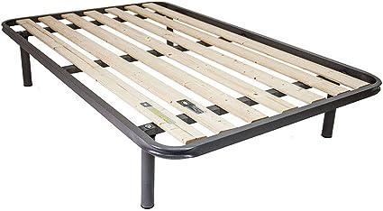 Somier de tablas verticales de 140 x 200 cm, también para pesos importantes con tres barras de refuerzo