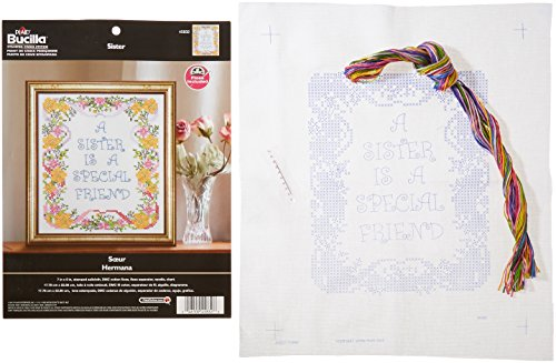 "A Sister Is A Special Friend Stamped Cross Stitch Kit, 7"" x"