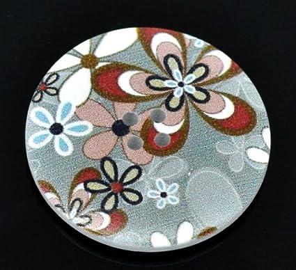 La Perle et bouton Boîte - 5 Gris et Rouge Bordeaux Design boutons ...