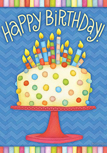 Briarwood Lane Happy Birthday Garden Flag Cake Candles 12.5