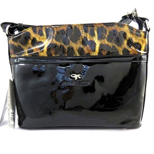 Gil marron Sac M2518 Holsters vernis léopard bandoulière rIqrBwxa
