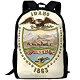 ZQBAAD Idaho Territory Coat Of Arms Luxury Print Men And Women's Travel Knapsack