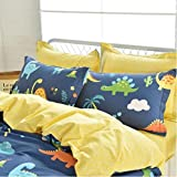 Brandream Boys Dinosaurs Print Pillowcases Set of 2 Kids Pillow Covers Standard Size