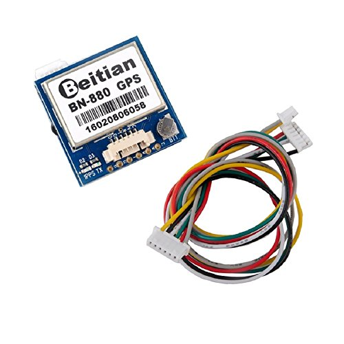 Geekstory BN-880 GPS Module U- M8030 with HMC5883 Compass + GPS Active Antenna Support GPS Glonass Beidou Car Navigation for Arduino Raspberry Pi Aircraft Pixhawk APM Flight Controller by Geekstory