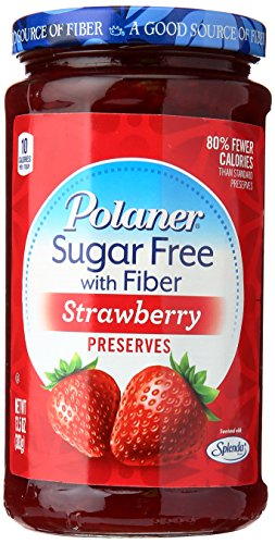(Polaner Sugar-Free Strawberry Preserves with Fiber, 13.5)