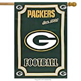 Green Bay Packers 29 x 43 Glitter Suede Double-Sided House Flag