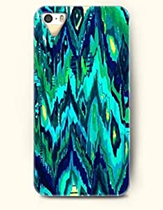 SevenArc Phone Cover Apple iPhone case for iPhone 4 4s -- Aqua and Navy Watercolor Painting