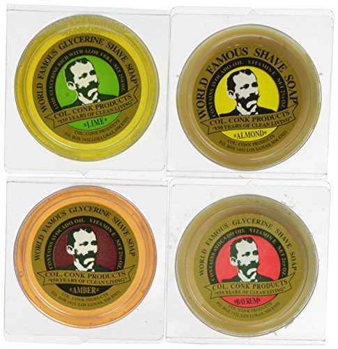 Col. Conk Shave Soap 2.25 Ounces (Variety 4 - Conk Shave Soap