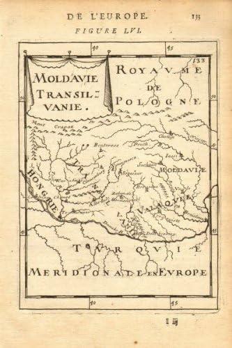 Transilvania Romania Cartina.Amazon Com Romania Moldova Moldavia Transylvania Hungary Mallet 1683 Old Map Antique Map Vintage Map Printed Maps Of Balkans Prints Posters Prints