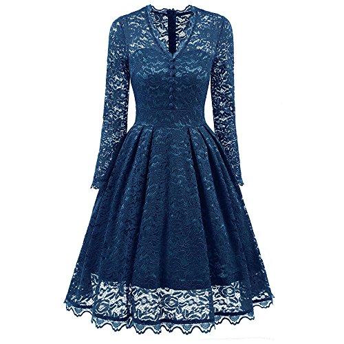 clearance sale!!ZEFOTIM Women's Long Sleeve Lace Dresses Vintage