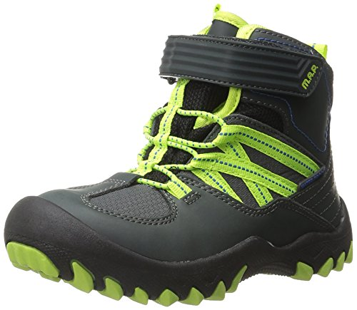 [M.A.P Boys' Alps Snow Boot, Charcoal, 3 M US Little Kid] (Boys Boots Sale)