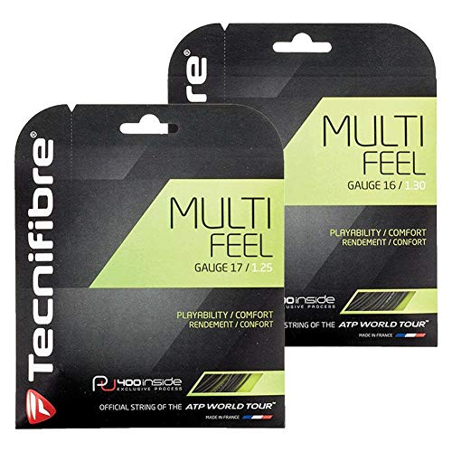 Tecnifibre Multi-Feel Tennis String Black (16G) ()