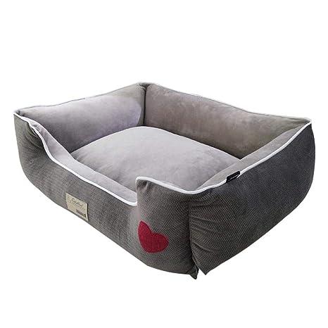 Mignon84Cook - Nido para Perro, Totalmente Desmontable, Lavable, Relleno de algodón PP,