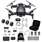 DJI Mavic Air Fly More Combo Travel Bundle Onyx Black with Lens filter 3 piece set and Professional Case and more.(Black)