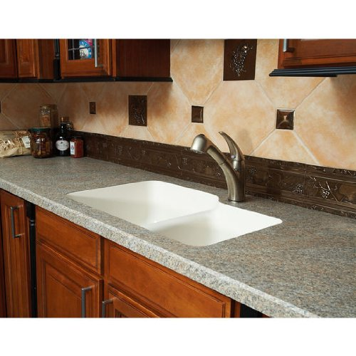 Karran Sorrento Double Bowl Under Mount Sink, Bisque by Karran USA