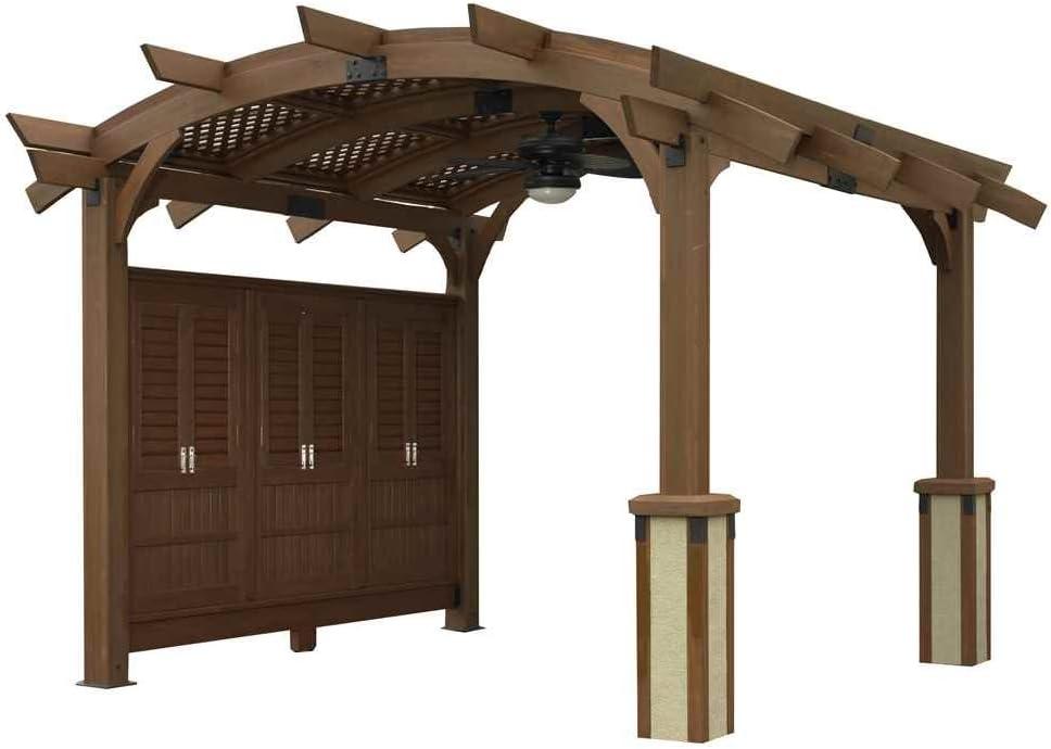 Al aire libre empresa GreatRoom Sonoma Pergola, 12 x 12-Feet ...