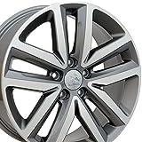 vw rims 18 - 18x7.5 Wheel Fits Volkswagen - VW Jetta Style Gunmetal Rim w/Mach'd Face, Hollander 69941 - SET