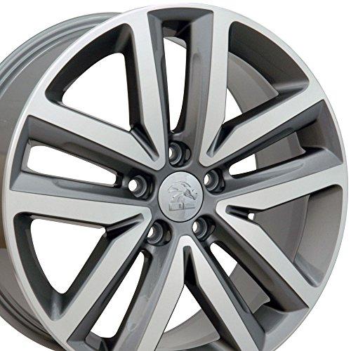 Golf Wheel Vw Rim (OE Wheels 18 Inch Fits Volkswagen GTI Jetta EOS CC Tiguan Rabbit Passat Golf Beetle VW Jetta Style VW27 Gunmetal Machined 18x7.5 Rim Hollander 69941)