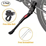 CAhomer Bike Kickstand Adjustable Aluminium Bicycle Kickstand Non Slip Adjust Bicycle Side Stand Fit for 22