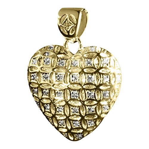 Perfect Memorials Eternity Heart 14k Gold Vermeil Cremation Jewelry