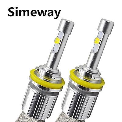 Simeway automotive H4 H7 H11 9005 9006 LED Headlight bulbs 6000K white 8000lm-waterproof plug & play Used for Headlight, Fog Light, DRL