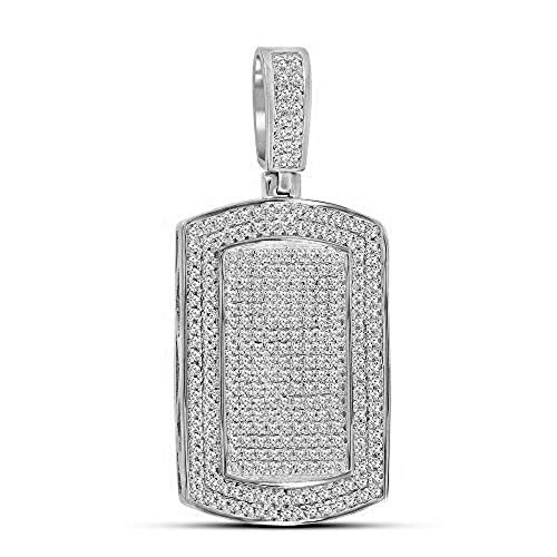 (Cluster Round Prong-Set Diamond Pendant Without Chain in 925 Sterling Silver)