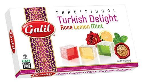 Galil Turkish Delight, Rose-Mint-Lemon, 16-Ounce Boxes (Pack of 4)