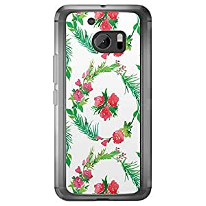 Loud Universe HTC M10 Floral Decorative Printed Transparent Edge Case - Multi Color