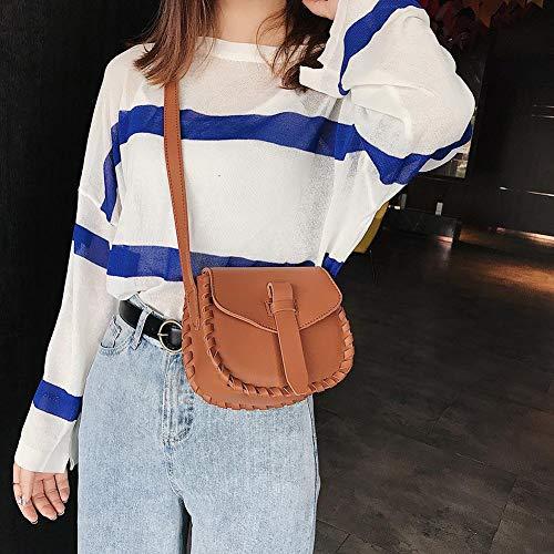 Bag Shoulder Bags Women Fashion Messenger Handbag Leather PU Clasp Brown Elegant Crossbody HOSPORT PwqxCYx